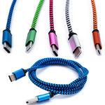 Кабель USB - Type С Цветной, нейлоновый, плетеный